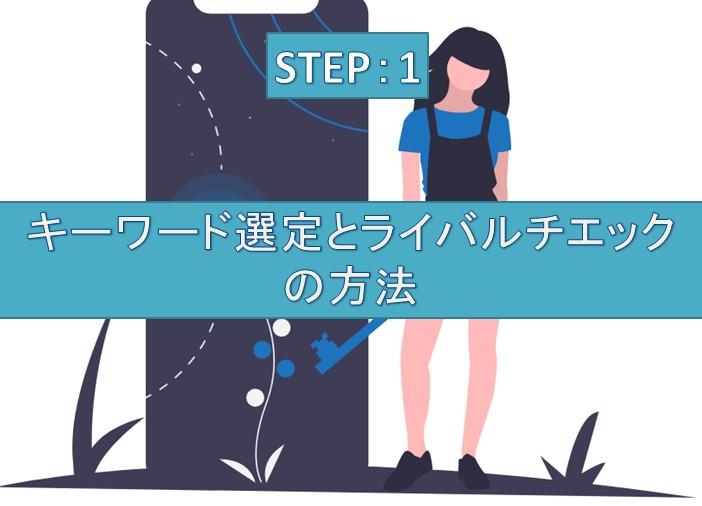STEP①:キーワード選定とライバルチエックの方法