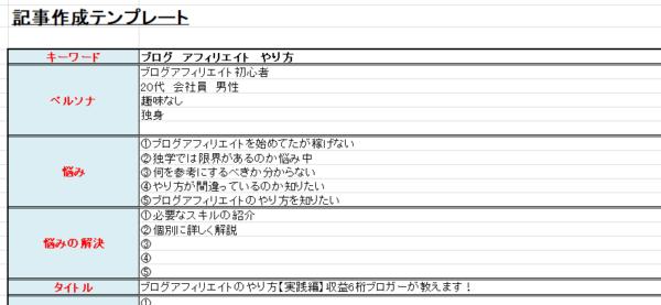 テンプレート化(見本)